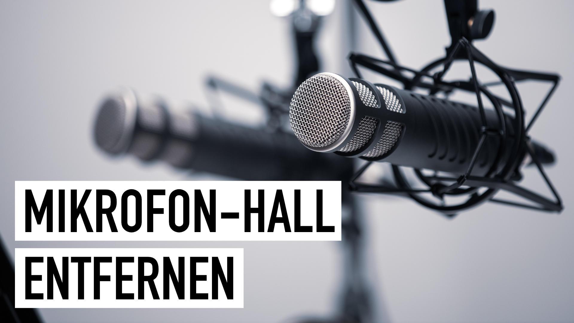 Mikrofon-Hall entfernen