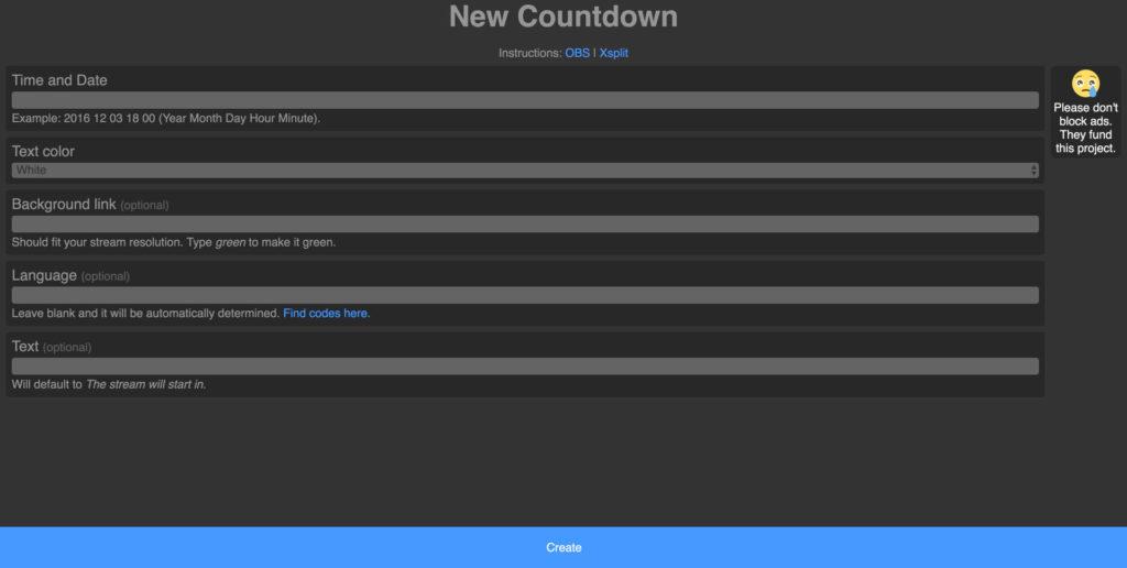 OBS Stream Start Countdown