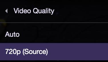Twitch Qualität nicht einstellbar